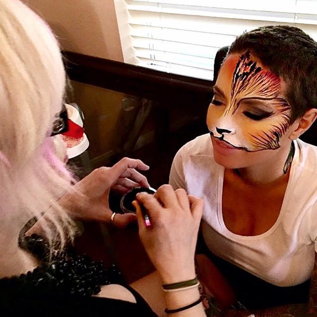 Kittie Lombardo Facepaint Cat
