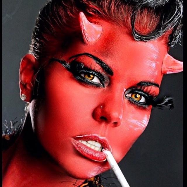 Kittie Lombardo Facepaint Devil