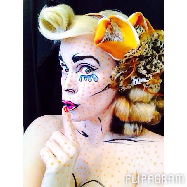 Kittie Lombardo Popart Makeup
