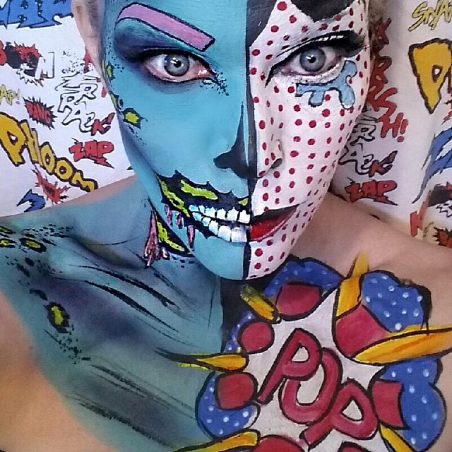 Kittie Lombardo Popart Makeup
